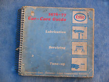 ESSO CAR CARE GUIDE BOOK HOLDEN FORD HONDA VALIANT DATSUN VW FIAT MG MAZDA RARE
