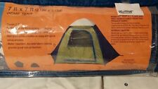 Easy Setup 7 ft x 7 ft Dome Camping Tent  Blue and Green Sleeps 2 or 3 People