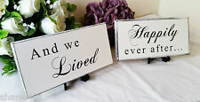 Wedding Signs, Pair Wooden Plaques, wedding decor, table centre Photo Prop 61/62