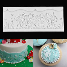 Fairy Elf Lace Silicone Fondant Cake Mould Decorating Icing Mold Bake Sugarcraft