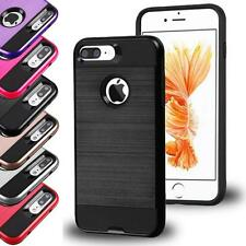 For Apple IPhone Armor Box Metal Shockproof Brushed Hybrid Case Cover Accessory