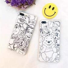 Sketch Lines Cartoon Pooh Bear Toy Story New Case For iPhone 7 Plus 6 6s Plus 5S