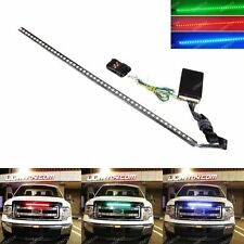 """24"""" 7-Color RGB LED Knight Rider Strip Light Fit Under Hood Behind Grille"""