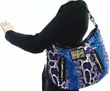 Betseyville❤️Betsey Johnson Multi Color Animal Print Shoulder Bag Python Purse