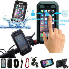 Shockproof Case Waterproof Cover Bicycle Motorcycle Phone Holder for iPhone 7 6S