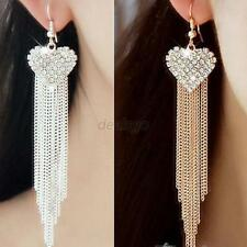 Elegant Women Earrings Crystal Rhinestone Heart Party Ear Stud Earrings Jewelry