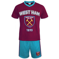West Ham United FC Official Football Gift Mens Short Pyjamas Loungewear