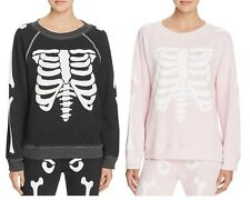 Wildfox Couture Womens Inside Out Top BBJ Pullover Sweater Black Ghost Pink