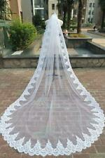 1 T Layer white lace Edge 3M Wedding Veil Bridal Veils Accessories With