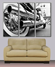Harley Davidson motorbike, Huge canvas print, ready to hang, rolled, wall decor