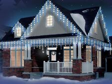 CHRISTMAS LED SNOWING ICICLE LIGHTS BRIGHT NET XMAS TREE INDOOR OUTDOOR