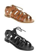 FADED GLORY - Women's Ghilly Strappy Lace Up Sandals Shoes - Black or Brown