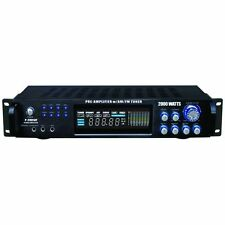 PylePro P2001AT 2000W Hybrid Home Stereo Receiver Amplifier with AM/FM Tuner