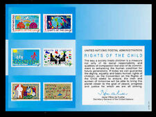 U.N. SOUVENIR CARD #40 - RIGHTS OF THE CHILD - MINT