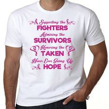 Supporting The Fighters Survivor Breast Cancer Awareness Tee T Shirt Pink Hope