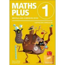NEW Maths Plus Aus Curriculum Edition Mentals & Homework Book 1 2016 by Harry O'