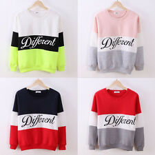 Creative Women Long Sleeve Cotton Blend Multi-Color Letter Printed Hoodies Tops