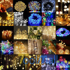 30/50/100 LED String Copper Wire Fairy Lights Battery Powered Waterproof &Remote