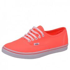 Vans Authentic Lo Pro Coral Shoes Trainers Neon Pink VN-0 GES7N1