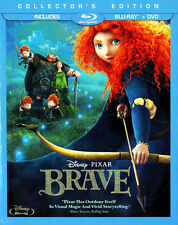 Brave (2012 Disney) (3 Disc, Blu-ray + DVD, Collectors Edition) BLU-RAY NEW