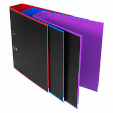 3 x Black A4 Lever Arch Files Large Office Paper Document Storage File Folders