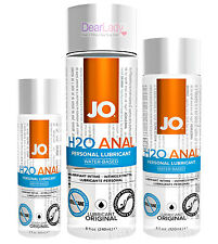 JO Anal H2O Water Based Personal Sex Lubricant Lube - All Sizes