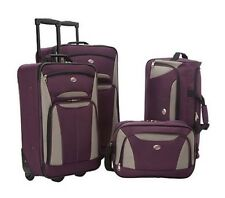 Wheeled Luggage Set Carry On Rolling Lightweight Travel Upright Tote bag 4 Pc.