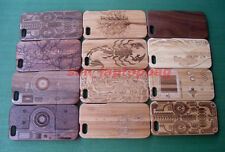 Real Natural Wood Wooden Bamboo Phone Case For iPhone 5 5S+Tempered Glass(Gift)