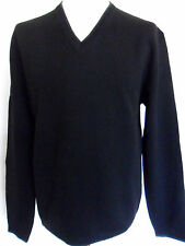 FCUK FRENCH CONNECTION Jumper Men's V-Neck Knit Wool Black Size: M,L