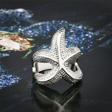 Women's Vintage Punk Style Bronze Sea Animal Exaggerated Starfish Cool Ring