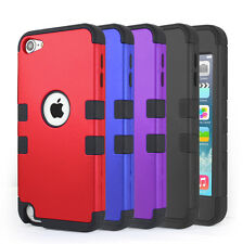 iPod Touch 5th 6th Gen -Silicone Hybrid Bumper Case Screen Film Lightning Cable