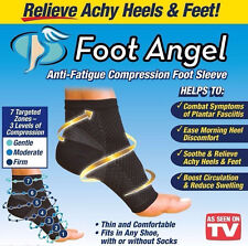 NEW Pair Foot Angel Anti Fatigue Foot Compression Sleeve Plantar Fasciitis Relie