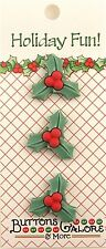 HOLLY BUTTONS 3D Christmas Holiday Fun Vicki Schreiner Sewing Scrapbooking