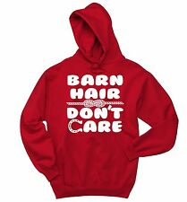 Barn Hair Don't Care Funny Hoodie Holiday Gift Horse Lover Sweatshirt