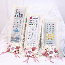 Durable Bowknot Lace Remote Control Dustproof Case Cover TV Control Protector sv