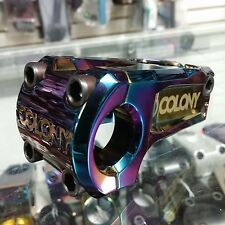 COLONY BMX BIKES OFFICIAL OIL SLICK STEM 52MM REACH JET FUEL STRANGER ODYSSEY