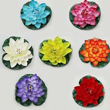 Artificial Aquatic Floating Lotus Water Lily Garden Pond Fish Tank Decor Flower