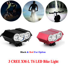 12000Lm 3 x CREE XM-L T6 LED Bicycle Lamp Light Headlight Cycling Headlamp Torch