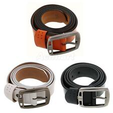 New Waistband Letter Solid Genuine Leather Men's Belt Strap Fashion Buckle Belts
