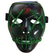 PVC Scary Clown Mask Halloween EL Wire Mask For Antifaz Party Mascara Carnaval