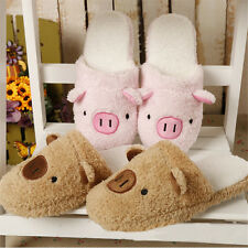 Men Women Couple Winter Pig Indoor House Slippers Anti-slip Gift Home Warm Shoes
