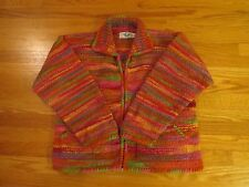 The Sweater Venture Hand Knit Wool Zip Cardigan Sweater / Jacket Large  Ecuador