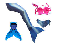 Girls-3pcs-Tops Panties Mermaid Tail for Swimming with Mono fin Swimmable wear*