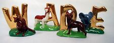 Wade Whimsies Various ALPHABET Letters - Animal Figures - GOLD EDITION