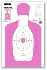 "Thompson Target B27Q-PINK | Silhouette Qualification Shooting Targets - 25""x38"""