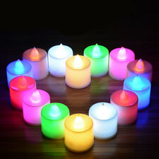 Halloween LED Flickering Tea Light Candle Xmas Wedding Decor Flameless Battery