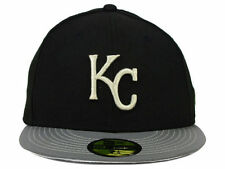 Official MLB Kansas City Royals Men Hat New Era 59Fifty Black Gray Fitted Cap