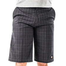 "Dickies 13"" Men's Shorts (Plaid Charcoal PCH) Phone Pocket Regular Fit WR978"