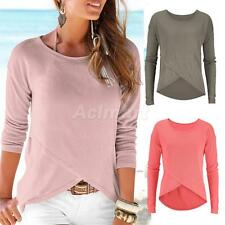 Fashion Casual Long Sleeve Tops Shirt Ladies Sexy T-shirt Blouse Tee for Women