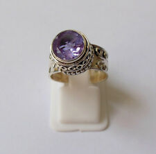 100% Color Change Lab Created Alexandrite 925 Solid Sterling Silver Ring 4-13 US